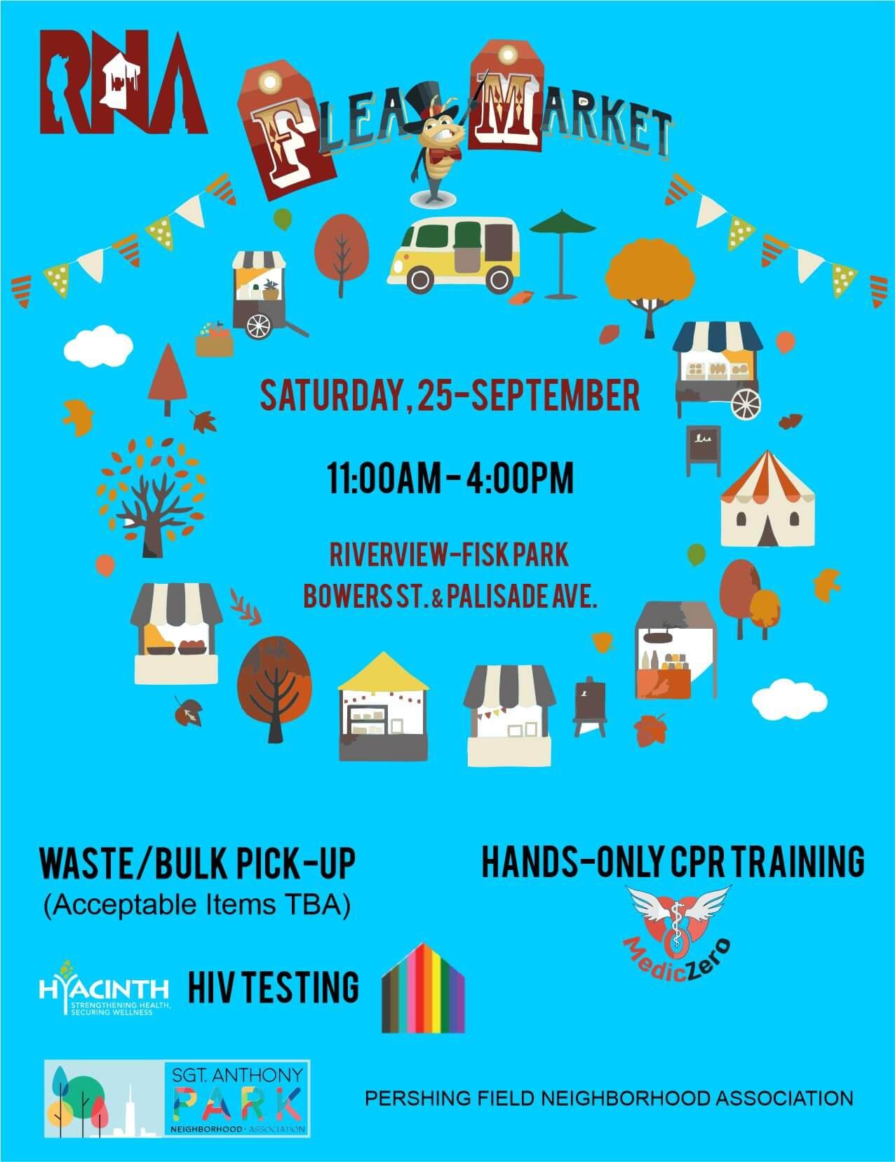 Flea Market 1st Flyer-SKY BLUE